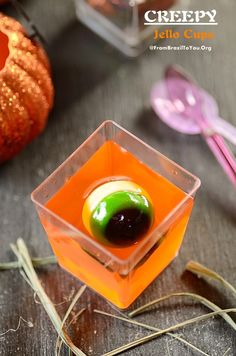 Creepy Jello Cups - Three-ingredient, Ten-minute prep FUN treat!!