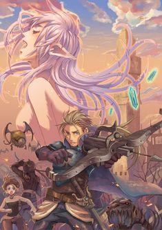 fyeahff:  Relm, Shadow, Terra & Edgar (FFVI).