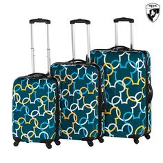 3-Piece Set: Disney by Heys Mickey Mouse Signature Spinner Luggage You love your Heys hardcase luggage, and can