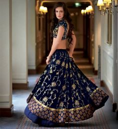 Blue Bridal Lehenga by #AnitaDongre.. Check out her bridal collection