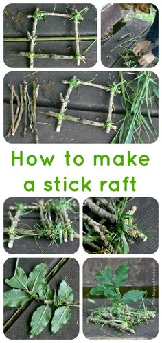How To Make A Stick Raft (not that I needed instructions but the resident toad might enjoy a ride round he pond)