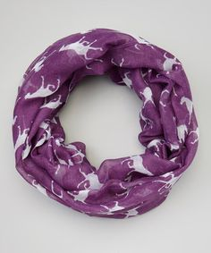 Loving this Purple Horses Infinity Scarf on #zulily! #zulilyfinds