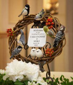 ウェルカムリース - 色鳥々