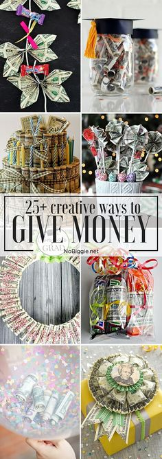 25+ Creative Ways to Give Money | NoBiggie.net
