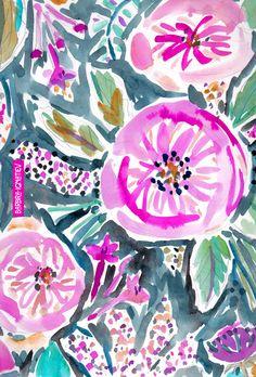 Daily Color #110: Gardens of Piedmont #garden #barbraignatiev #watercolor #roses