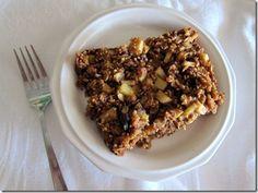 Apple Walnut Baked Oatmeal... uses applesauce & apple butter... nummies!