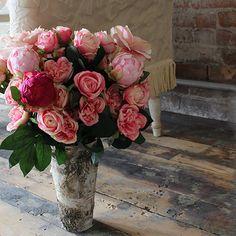 """Birch Vase with Zinc Interior4.75"""" Wide x 9"""" Tall"""