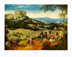 25x19.5 $32.99 Sprin, Haymakers Print by Pieter Bruegel the Elder at Art.com