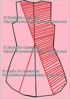 Trazar cola de pato en espalda de blusa o vestido Parte 2 - El Rincon De Celestecielo