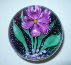 AWE INSPIRING Iridescent LUNDBERG Glass PAPERWEIGHT Signed DICHROIC 1990 Purple #LundbergStudios