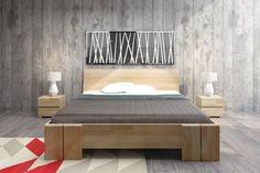 Łóżko drewniane bukowe Skandica VESTRE Maxi - Internetowy sklep meblowy Onemarket.pl - Nowoczesne meble, Designerskie meble #łóżko #łóżka #lozko #lozka #bed #beds #woodenbed #woodenbedroom #bedroom #drewnianasypialnia #drewnianełóżka #sypialnia #skandynawskistyl #skandica #meble High Beds, Bed Storage, Bed Frame, Mattress, Solid Wood, Cool Designs, Colours, Flooring, Bedroom