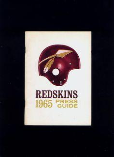 ORIGINAL 1965 WASHINGTON REDSKINS NFL FOOTBALL PRESS TV RADIO MEDIA GUIDE