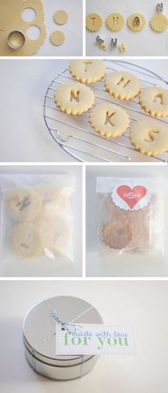 I love this idea of using cookies to spell something!