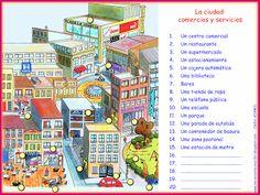 Me encanta escribir en español: La ciudad : comercios y servicios