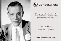 Fred Astaire - Actor, Cantante, Coreógrafo y Bailarín de Teatro y Cine Estadounidense.