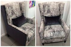 Design Art Custom custom made Kennedy Chair in black and white fabrics. www.designarthouse.com.au Black And White Fabric, White Fabrics, Custom Made, Design Art, Chair, Furniture, Home Decor, Decoration Home, Room Decor