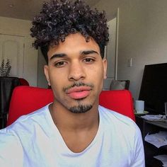 Curly Black Mens Hairstyles Natural Curls  Mahogany—Hair  Pinterest  Natural Curls Natural