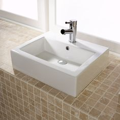 Cubix Square Basin 50x41cm (Wall or Counter Mounted)  £109