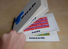 Sensory Texture Book - do one example of actual texture and one of visual texture for Art.