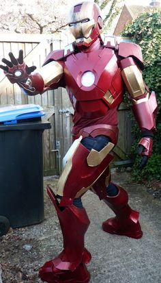 These pins are inspriation and technique ideas for producing the suit of armor for the set - DLGH DIY: IRON MAN Armor Mark VII
