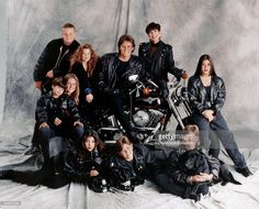 1993: Burton Jenner, Khloe Kardashian, Bruce Jenner, Kris Jenner, Kim Kardashian, Brandon Jenner, Brody Jenner, Kourtney Kardashian, Robert Kardashian, Jr. and Cassandra Jenner of the celebrity Jenner and Kardashian families featured in the TV show 'Keeping Up With The Kardashians' pose for a family portrait in 1993 in Los Angeles, California .