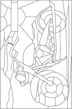 ART:ERY Stained Glass Pattern Co-Op ::: Harley Motorcycle