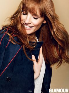 Jessica Chastain's November 2014 Issue Cover Photos: Glamour.com