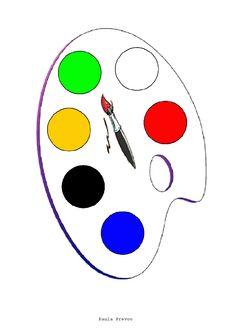 Verzamel alle kleuren van het schilderspalet