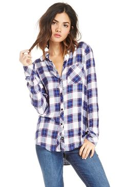 Rails Hunter Button Down Plaid Shirt at DAILYLOOK.COM