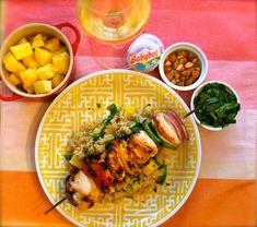 Grilled Chicken Kabobs, Pineapple Quinoa & a Homemade Pineapple Vinaigrette