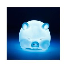 LED Night Light Lamp Pig Blue Dark Kids Bedroom Illuminate Color Changing Fun