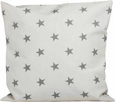"""Kissen """"graue Sterne auf hellem Grund""""  Stoffart: Jersey  Größe: 40 cm x 40 cm"""