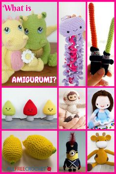 Amigurumi are crocheted or knit stuffed toys. The cutest of all crochet techniques, amigurumi dolls can be animals or objects. Learn about it here. All Free Crochet, Crochet Ideas, Knit Crochet, Crochet Patterns Amigurumi, Amigurumi Doll, Crochet Baby Toys, Baby Smiles, Having A Baby, Key Chains