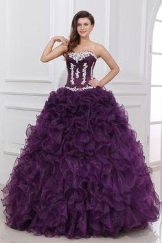 Ball Gown Zipper Sleeveless Sweetheart Grape Celebrity Inspired Prom Dresses