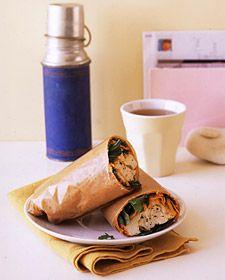 Make-ahead turkey wrap sandwiches