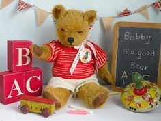 Bobby an old pedigree bear who really is a Good bear www.onceuponatimebears.co.uk