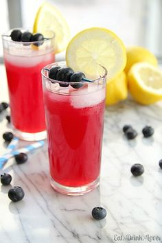 Blueberry Lemonade — Lemon Juice, Water and Blueberry Simple Syrup