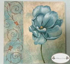 Acrylic Painting Tips, China Painting, Background Tile, Glue Art, Painted Paper, Art Pages, Flower Art, Photo Art, Art Drawings