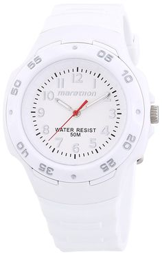 Timex Ironman Marathon White Dial White Resin Ladies Watch T5K750 * Check out the watch by visiting the link.
