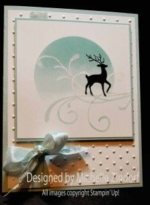 Winter Deer – Stampin' Up! Card by Michelle Zindorf