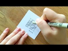 Zentangle® Muster: DugWud - YouTube