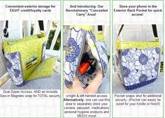 Concealed carry purse pattern