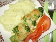 Dnes je na rade brokolica. Vegan V, Mashed Potatoes, Stuffed Peppers, Meat, Chicken, Vegetables, Ethnic Recipes, Whipped Potatoes, Smash Potatoes