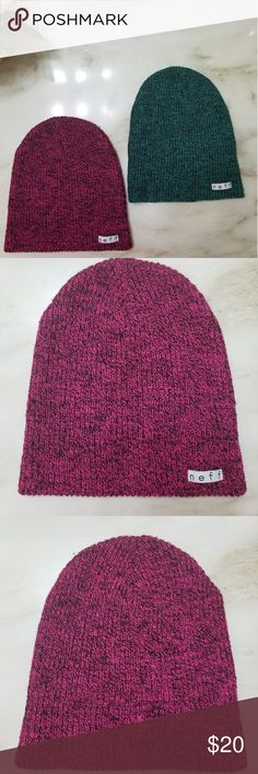 neff beanies Execellint condition!!! The pink one has been worn once. The green one has never been worn.  💄💄💄bundle and save💲💲💲 Neff Accessories Hats