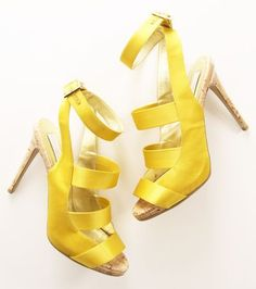 shoes. Yellow sandals