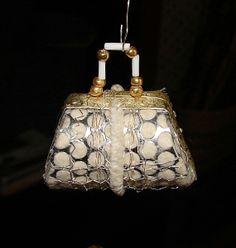 Ladies Handbag Christmas Ornament German Sebnitz.