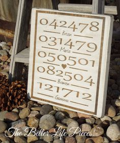 Custom Painted Family Important Dates by TheBetterLifePieces