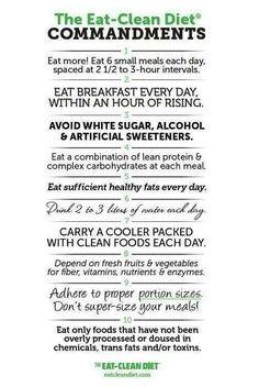 Eat clean.