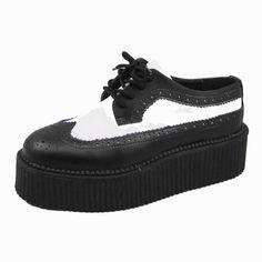 T.U.K. Shoes Mondo Hi Sole Wingtip Brogue