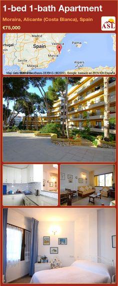 Apartment for Sale in Moraira, Alicante (Costa Blanca), Spain with 1 bedroom, 1 bathroom - A Spanish Life Murcia, Alicante, Valencia, Spanish Holidays, Double Bedroom, Apartments For Sale, Hearth, Costa, The Originals
